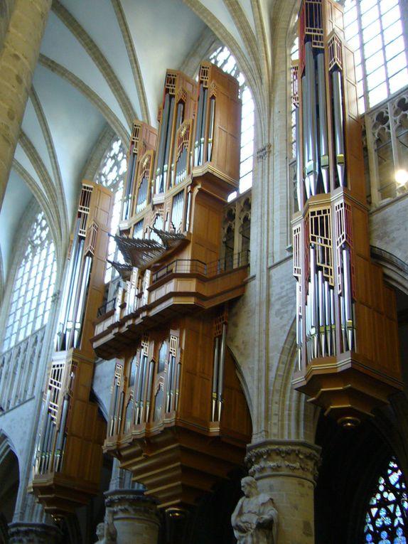 une journée à Bruxelles, avec Arnaud van de Cauter, qui nous a ouvert les portes de différentes églises, avec la complicité des organistes titulaires... nous avons eu droit à chaque fois à un mini-récital, véritables moments de grâce...