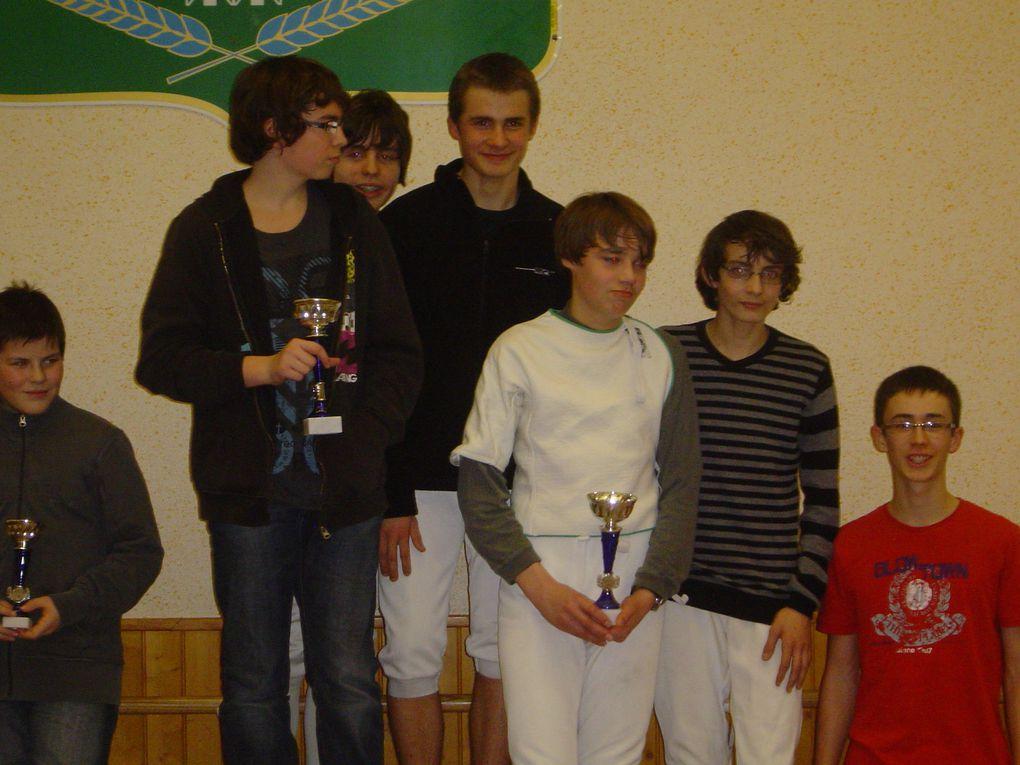Championnats départementaux par équipe Janvier 2011