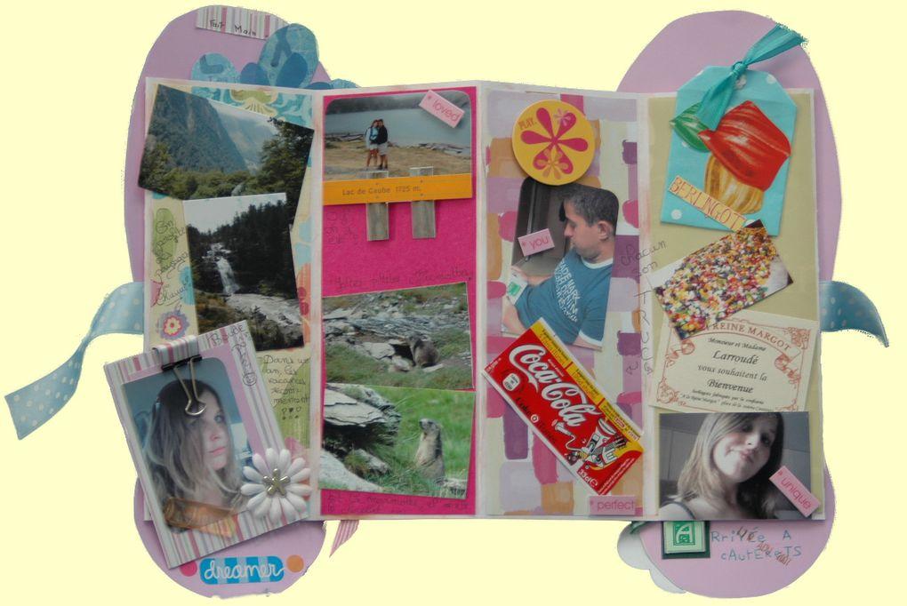 Différents mini-albums personnalisés selon les occasions, les voyages...