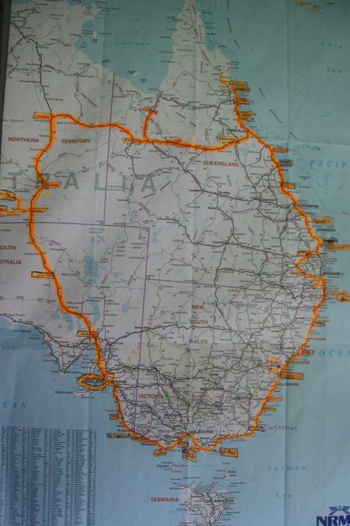 Tous les grands trajet que nous avons pu effectuer en camping car et autre véhicules.