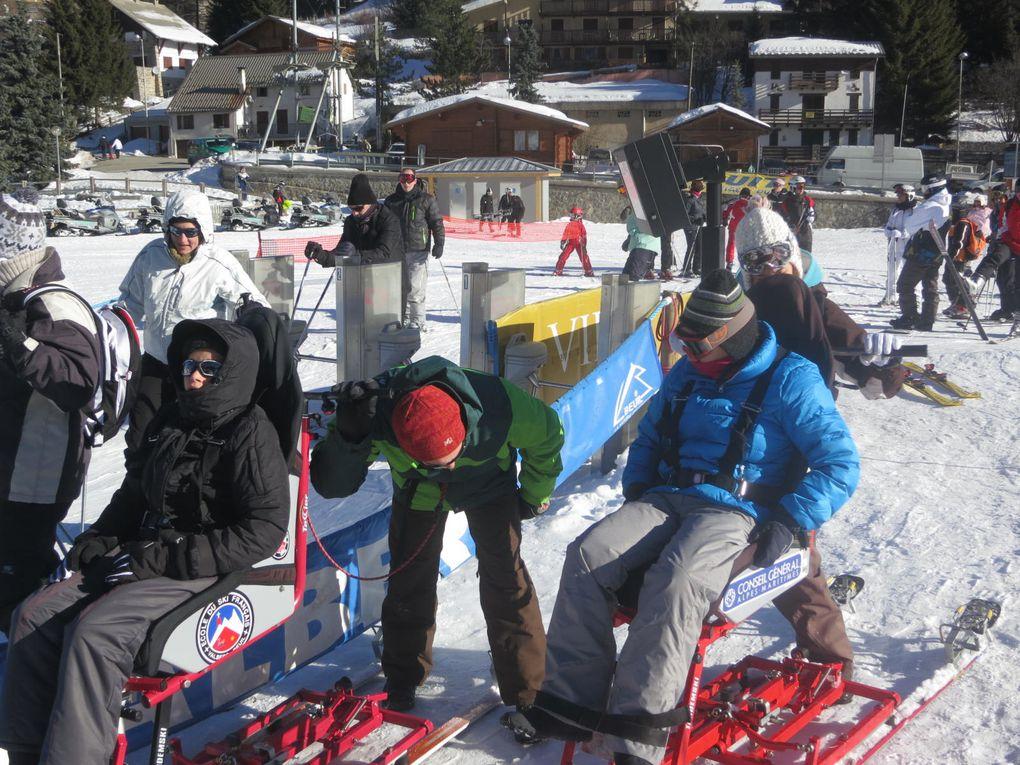 Emily, Pauline, Gianni et Jules en sortie neige
