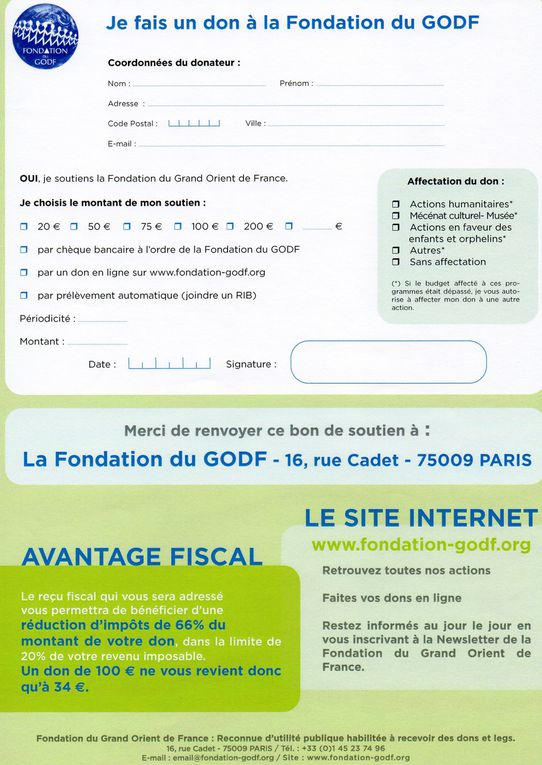 Album - Fondation du GODF