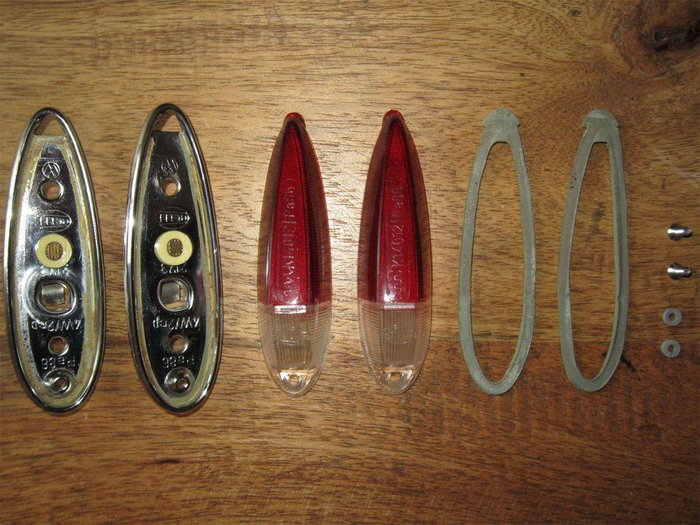 Photos de l'ensemble des pièces trouvées sur le net et les bourses spécifiques au modèles Karmann type 34