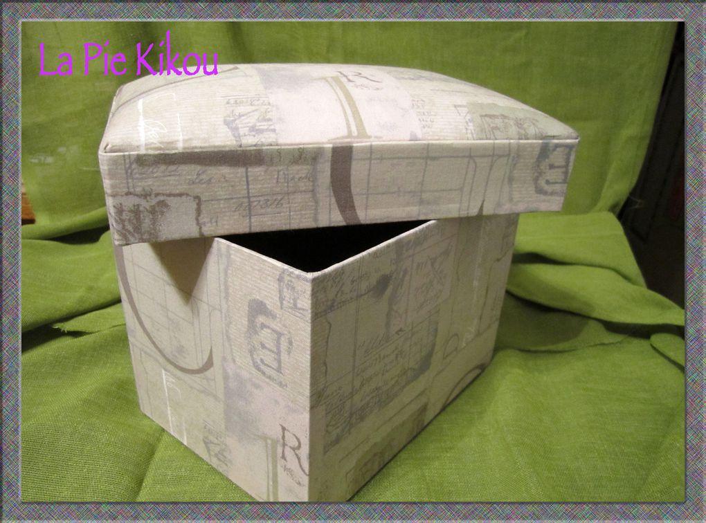 toutes sortes de boïtes :en bois, en carton, en jeffitex