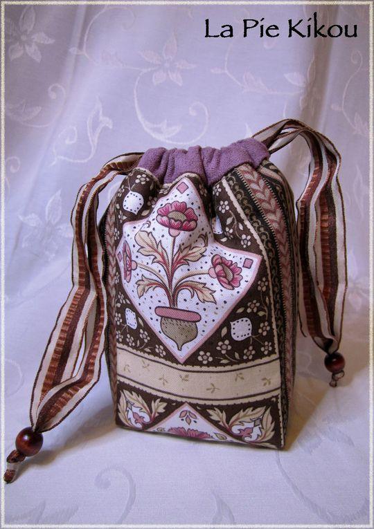 """Composition de sacs, pochons, valisettes, etc...d'après le livre : """"Secrets de sacs"""" de Béatrice Collomp"""