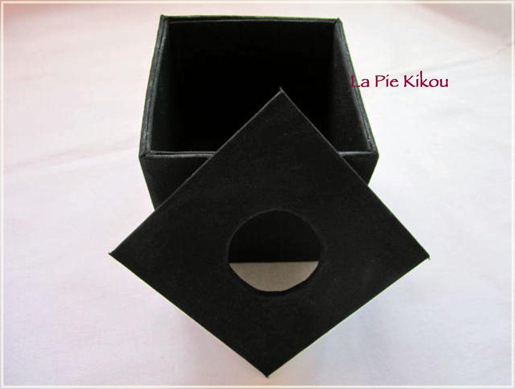 point de feston brodé sur le tissu coupé et plié, coton perlé n° 8