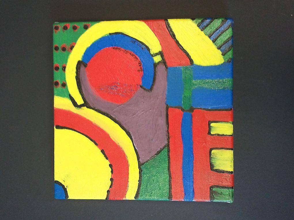 Voici des peintures réalisées par nos élèves : n'hésitez pas à les encourager!