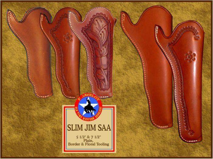 Les étuis Slim Jim ou California sont les premiers étuis de ceinture pour armes de point. Ils apparûrent en Californie lors de la ruée vers l'or de 1849.