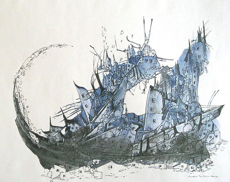 Dessins et aquarelles de Robert Bichet.