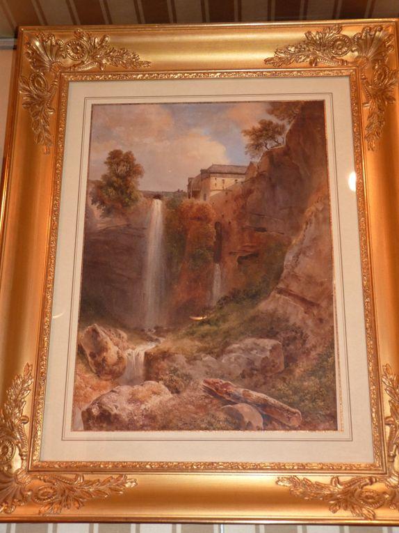 sélection de tableaux et dessins de paysages de France et d'Italie