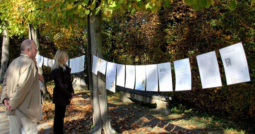 Veitshöchheimer Gymnasiasten ließen  Antike im Rokokogarten lebendig werden