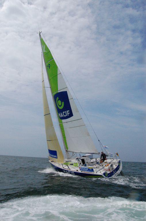 Retrouvez les photos du départ de la solitaire du Figaro.Première étape Le Havre-Gijon