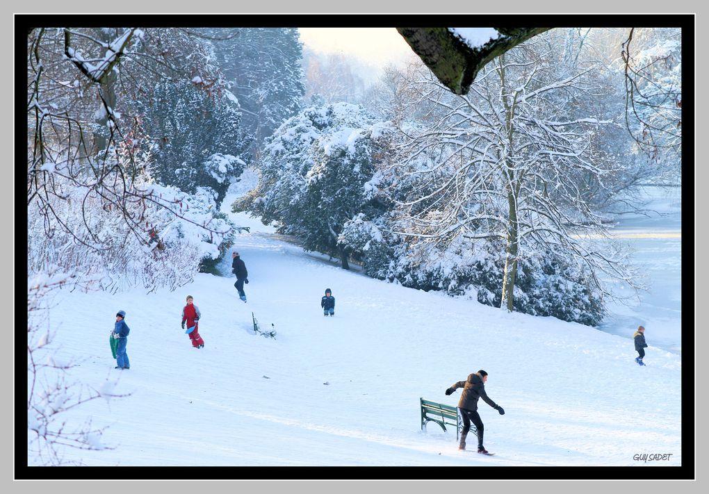 Album - Roubaix: Le parc Barbieux sous la neige