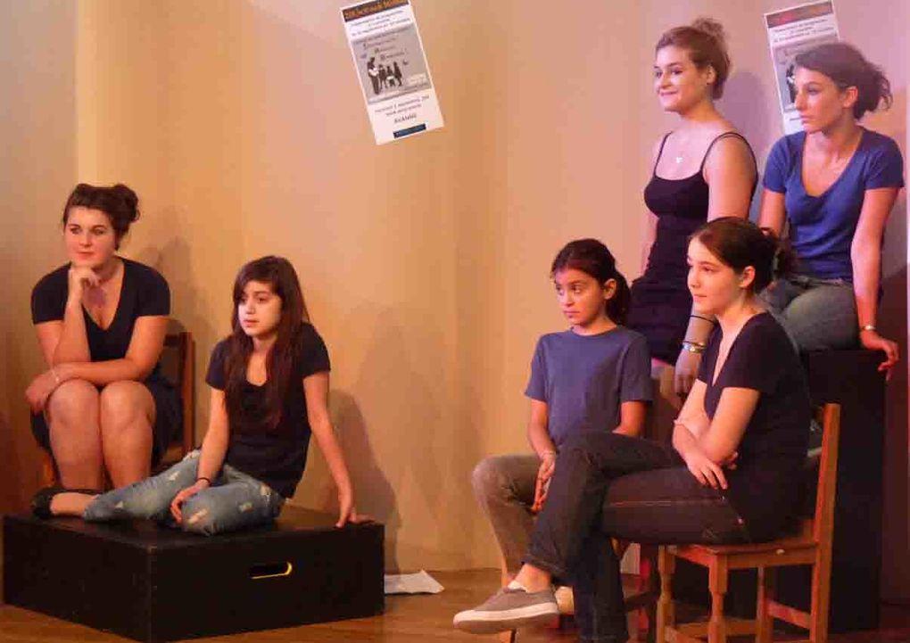 Images du spectacle de Chœur à Corps, MJC de Palente, 24 septembre 2011.Photos JC Demandre
