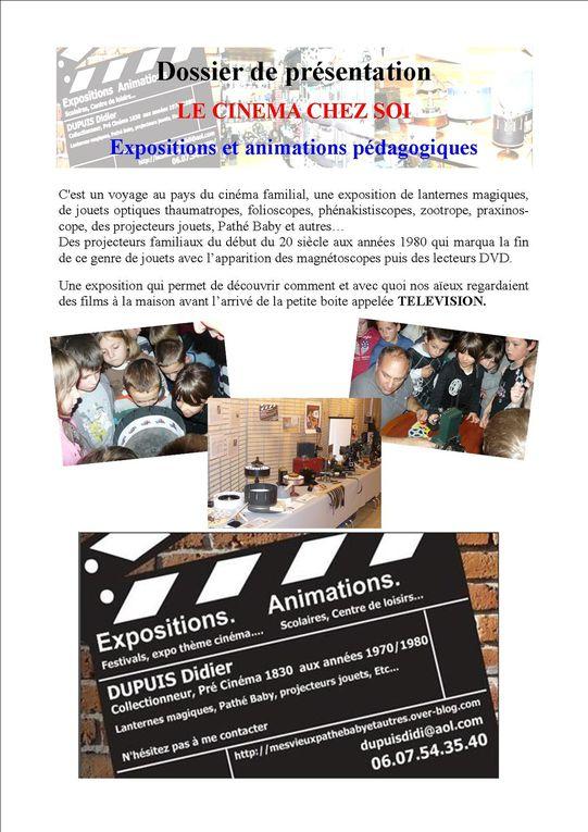 Infos sur les expo et les animations possibles