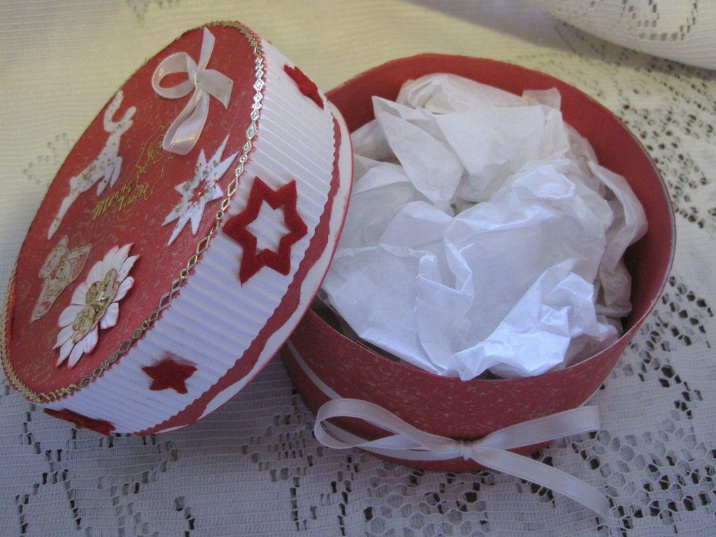 objets scrappés, boites décorées
