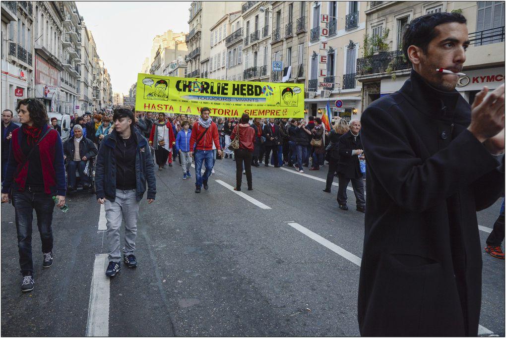 "Manifestation ""Je suis CHARLIE"" Marseille 10/01/2015"
