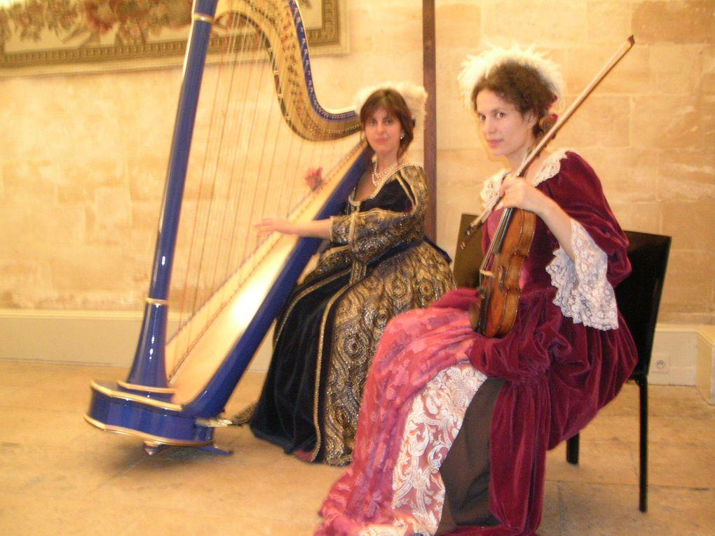 Duo lyrique avec Catherine Manandaza,Duo violon et harpe avec Florence,Duo violoncelle et harpe, avec Louise.