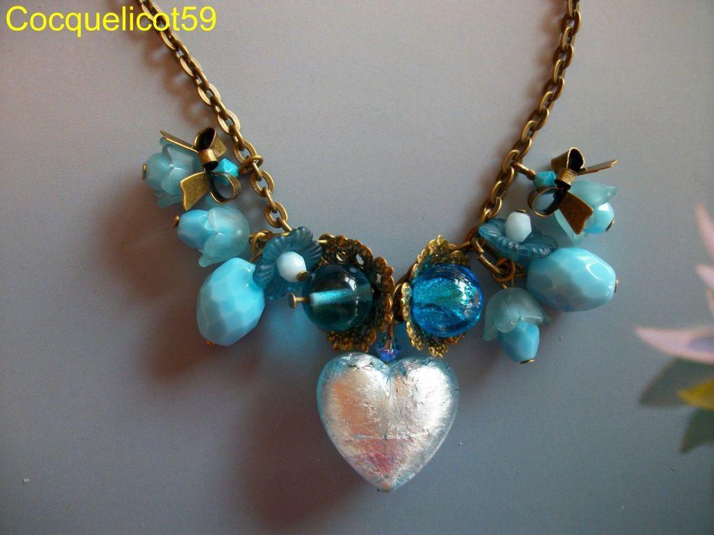 Vous trouverez ici mes créations de bijoux. Tout est fait main, même les médaillons, les fleurs en porcelaine froide, de la fimo...