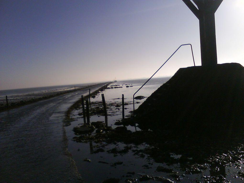 photos du passage du Gois reliant le continent à l'île de Noirmoutier