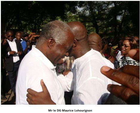Réception des prisonniers politiquesproches du président Gbagbo au CNRD à Abidjan.