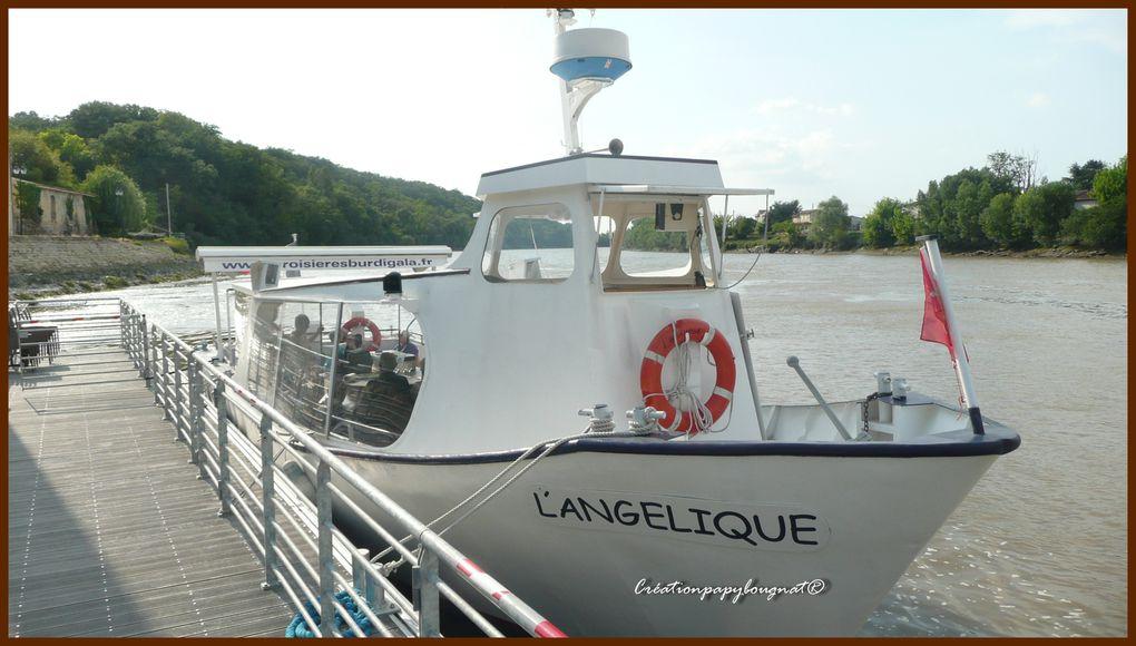 Ballade sur la Dordogne à bord du bateau promenade l'angélique avec dégustation de produits régionaux