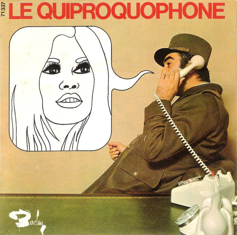 Tous les 45 Tours concernant Brigitte Bardot. Ses propres disques (1), les B.O. de ses films (2), la Samba (3) et toutes les pochettes diverses avec sa photo (4)...