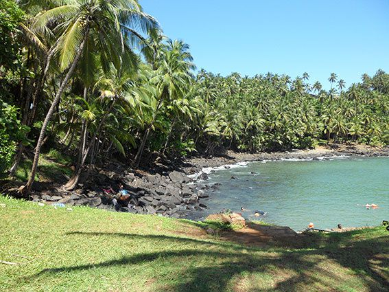 L'île Royale est l'une des trois îles du Salut, au large de Kourou. De 1852 à 1938, c'était les îles du bagne... avec la mer et les requins en guise de murs. Photos (c) Brittia Guiriec