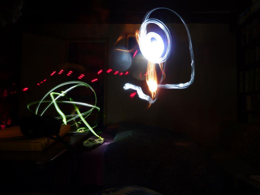 mes premiers essais de light painting.
