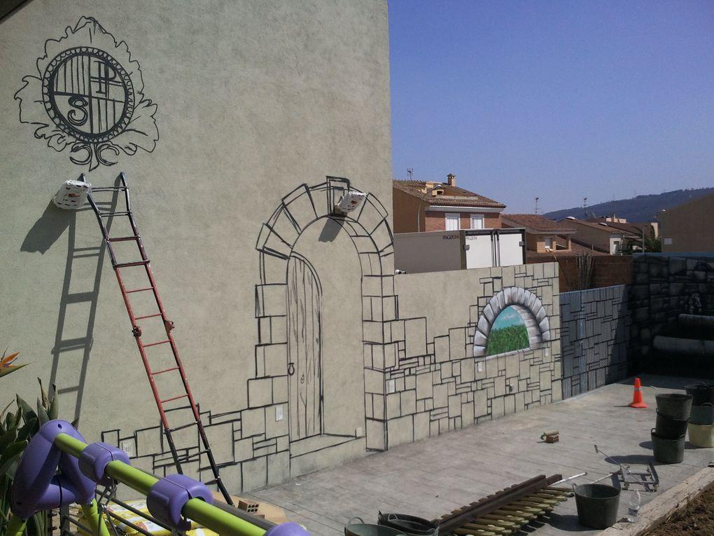 Graffitis para decorar jardines y fachadas exteriores