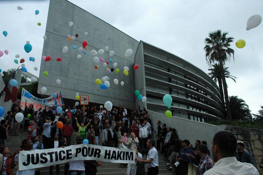 Manifestation pour Hakim Ajimi. Grasse 14 mai 2011. Droits réservés YM