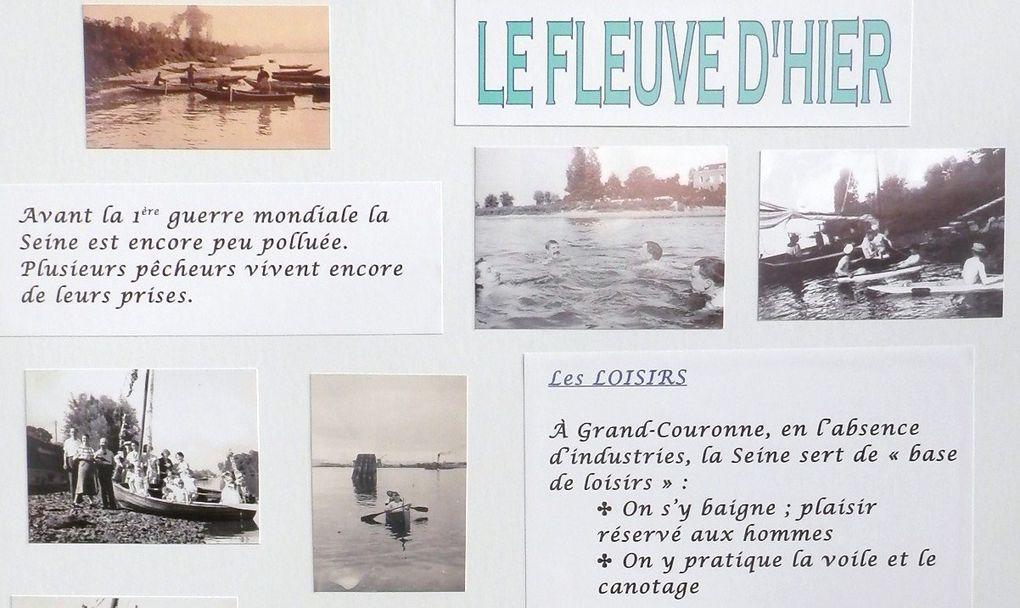 Le samedi 21 septembre avait lieu à Grand-Couronne la fête des associations.Dans ce cadre la société d'histoire a présenté une exposition, avec de nombreux documents et photos du passé de notre commune, appelée : l'eau, la ville, la forêt.
