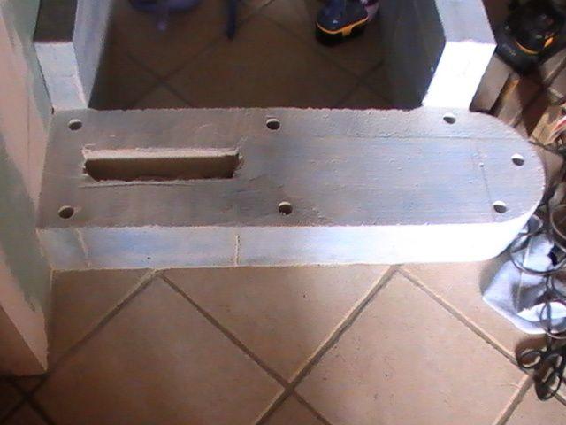 fabrication de la 1ère partie de l'escalier.