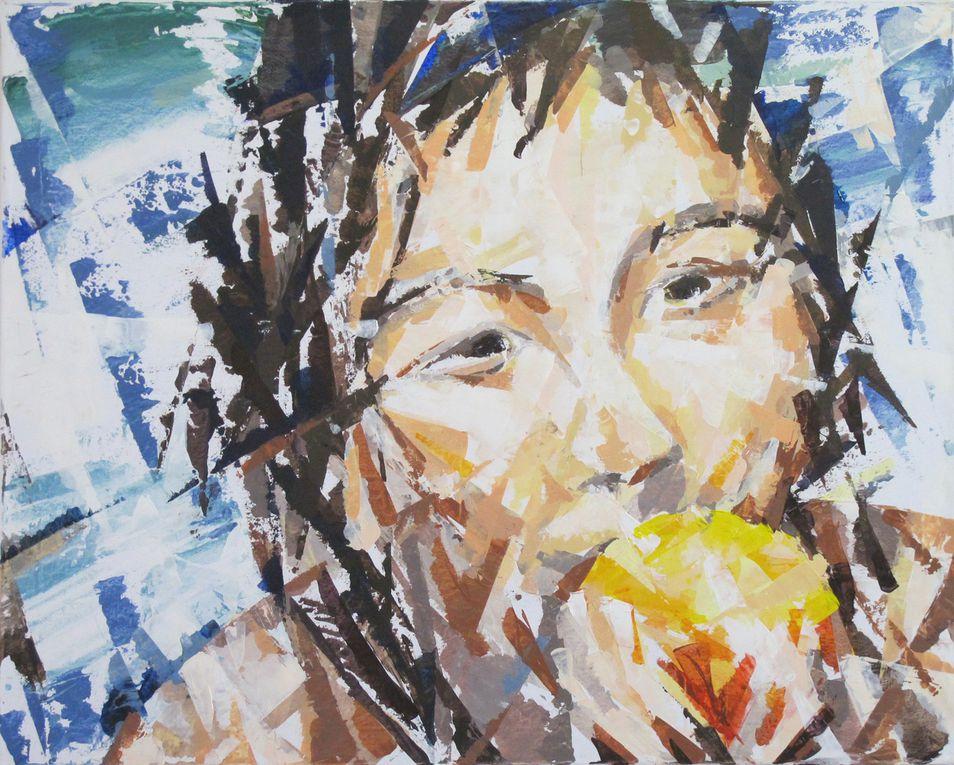 Le mouvement mène le geste, acte constituant de l'acte de peindreLe support n'est plus que prétexte à illustrer  ce mouvement  : visage, paysage, vague ou bateau dans la tempête .Ne reste que le geste , qui donne à la toile sa simple raison d'