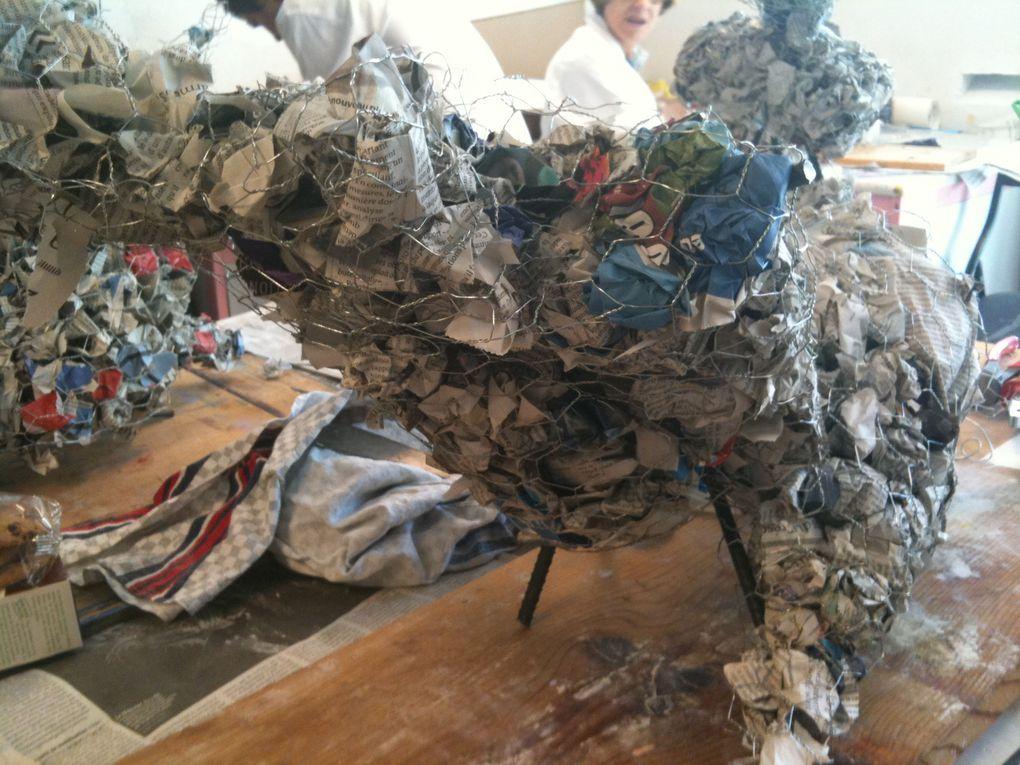 Stage sculpture/Ciment/carton