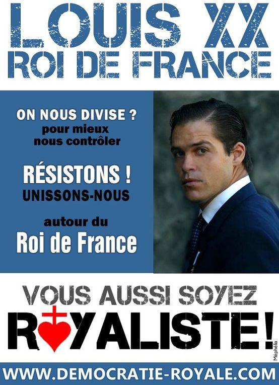 Tracts et affiches royalistes à diffuser ! Vous aussi soyez royaliste !