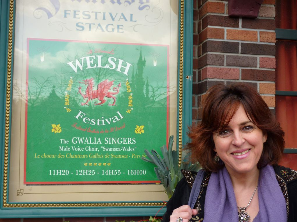 Welsh young singer performing at EuroDisney in 2010, for the St David's Welsh Festival
