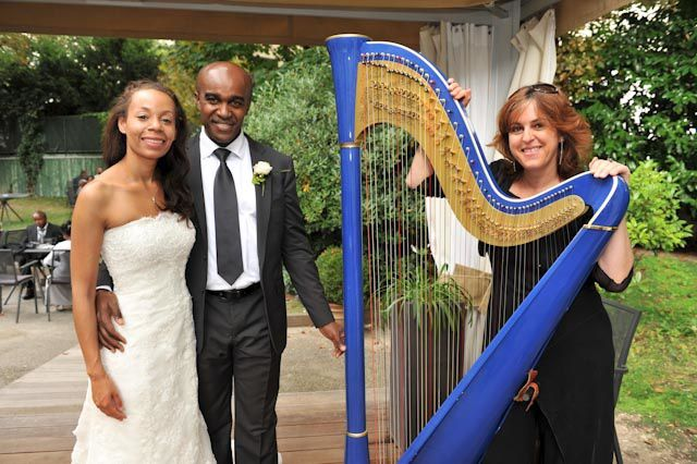 Quelques mariages avec la harpe bleue...Some of the weddings, with the Blue Harp