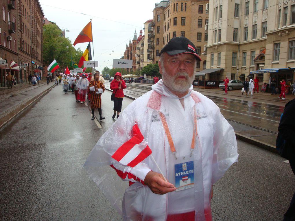 Bilder vom Festzug am Eröffnungstag der Weltspiele 2011 in Göteborg.Fotos: Team Österreich