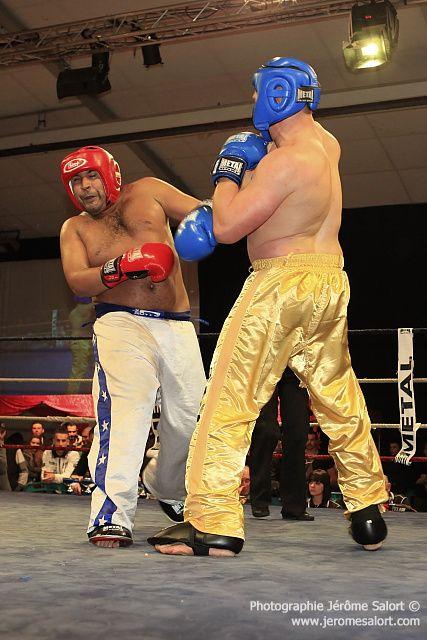 Boxe in défi XIIICombat amateur de lourds des +91Kg (3x2)Julien ROQUES vs Madjid BENHAMED