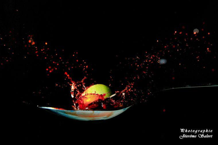 Splash photographiés en open flash