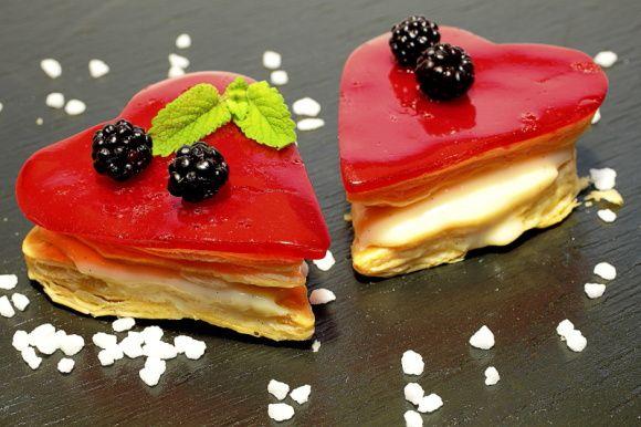 Photo culinaire de desserts et produits sucrés