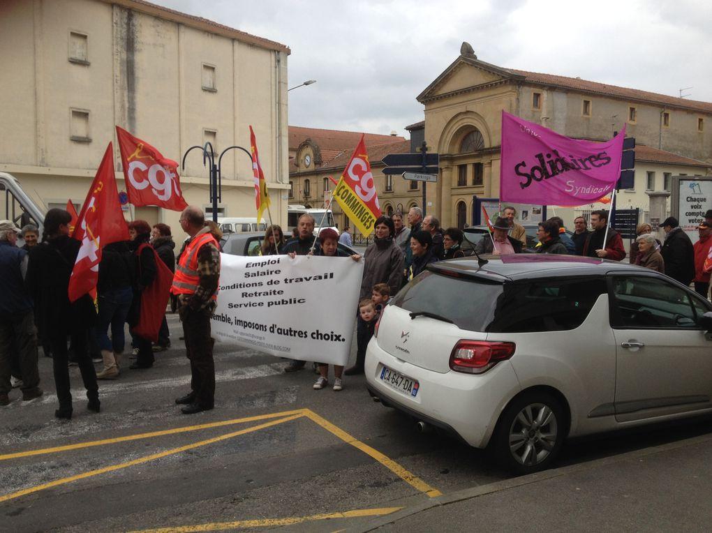 A l'appel des syndicats CGT, SUD, FO et FSU, une journée d'action unitaire contre l'austérité, pour les salaires, l'emploi, la sécurité sociale et les services publics.