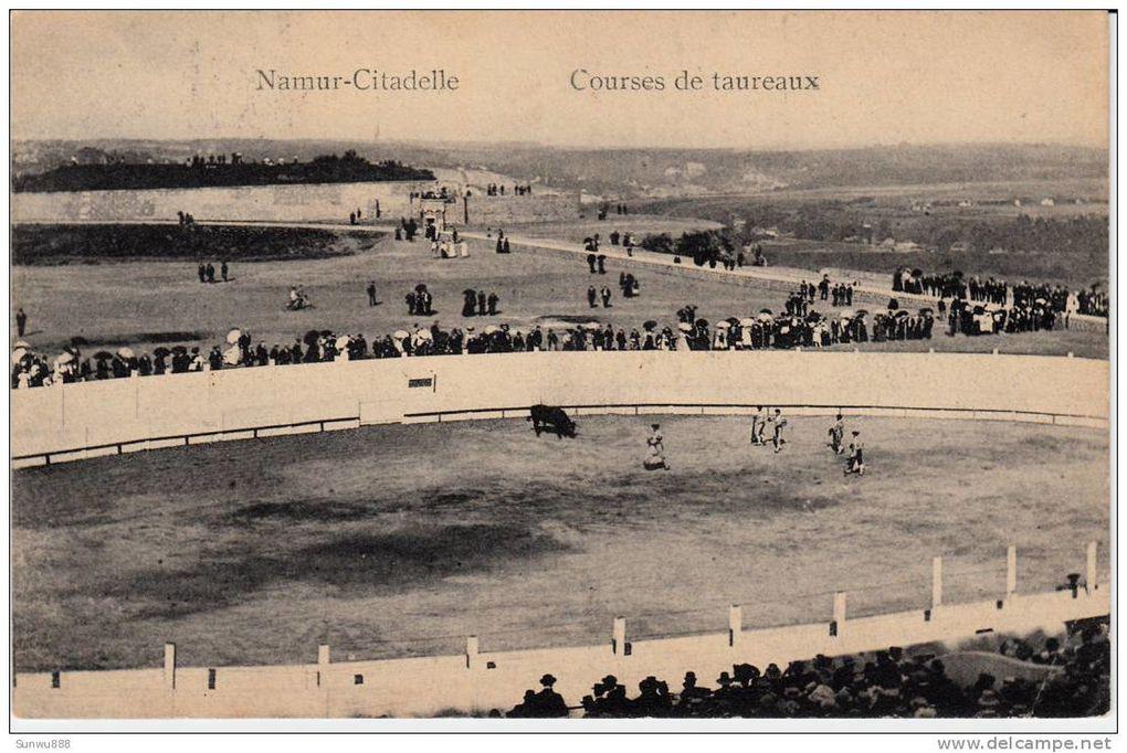 Course de toro à Namur. Citadelle, 1910.