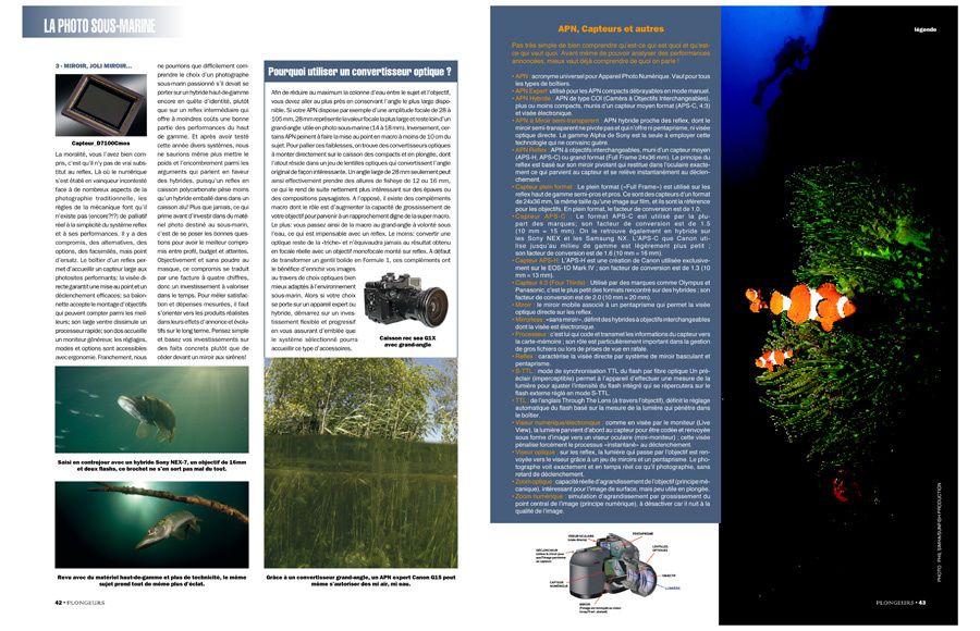 Magazine PLONGEURS INTERNATIONAL 121 Dossier spécial photo sous-marine©Pascal Baril/Planète Bleue Images et Phil Simha/Sunfish Productions