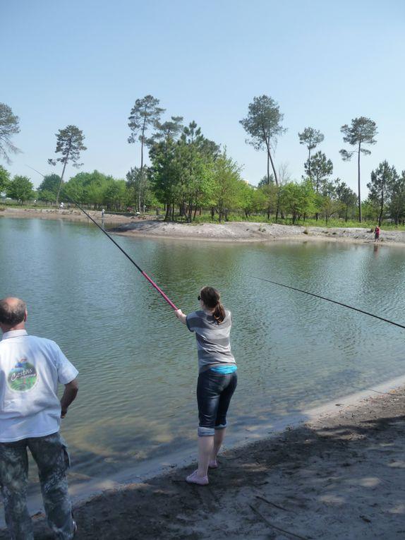 """Découverte de la pêche No-kill et du tir à l'arc lors d'une incentive """"nature"""".Site Caperlan-Solognac à Cestas (33)"""