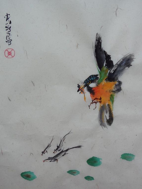 Peintures à l'aquarelle chinoiseStyle asiatique