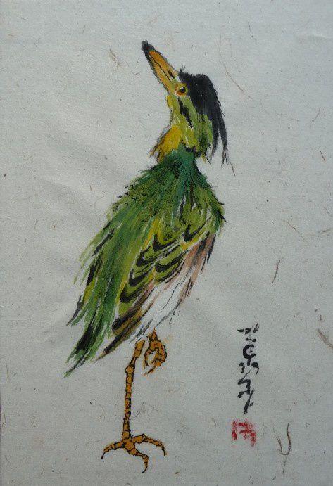 Aquarelles originale sur papier chinois pailléFormats cartes postales