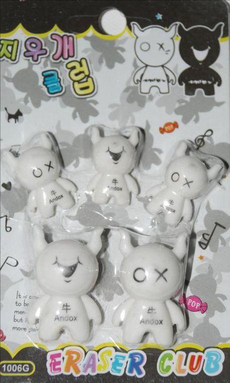 toute la gamme de mini gommes japonaise de majoliepapeterie.com