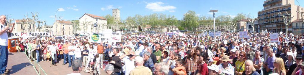 Gaz de schiste, manifestation de Cahors Lot, 4500/5000 personnes, permis de Cahors, permis de Beaumont de Lomagne